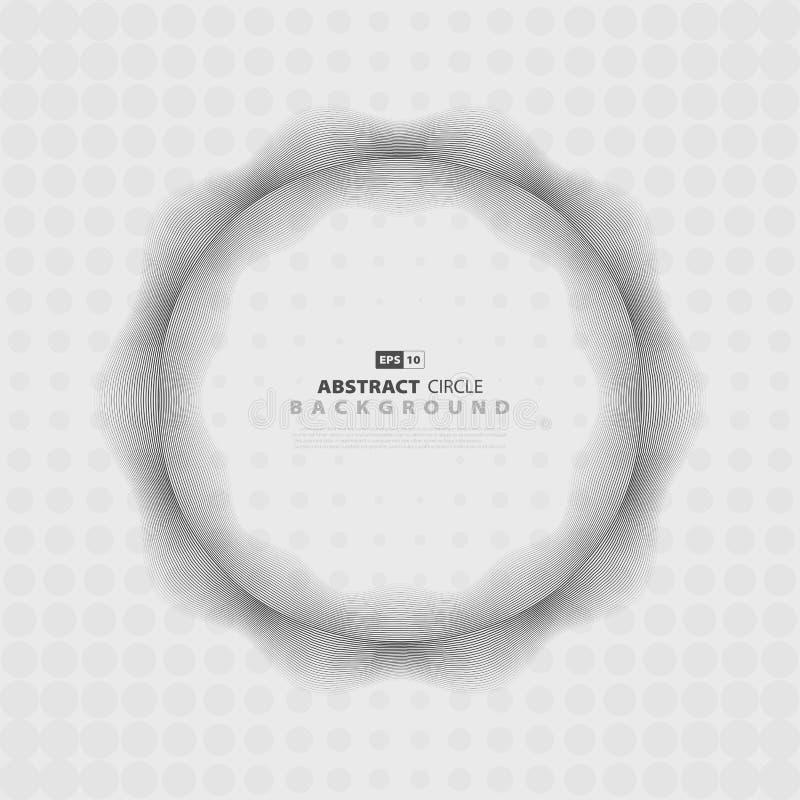 Progettazione di semitono del profilo ondulato dell'estratto del cerchio grigio di progettazione Vettore eps10 dell'illustrazione royalty illustrazione gratis