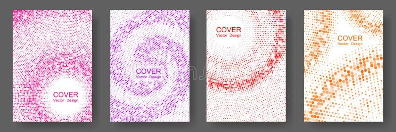 Progettazione di semitono di vettore delle disposizioni della copertina dei punti royalty illustrazione gratis