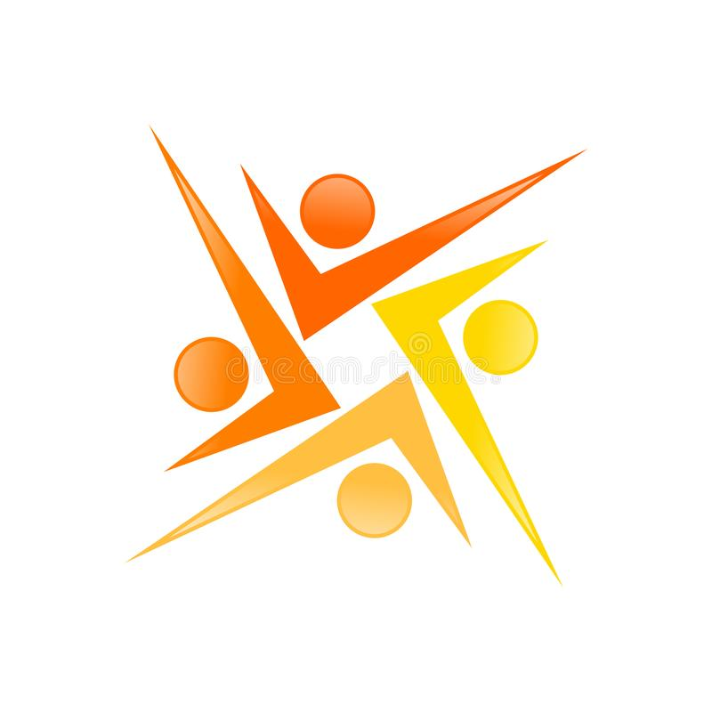 Progettazione di simbolo della geometria di Mark Shape Social People Movement del controllo illustrazione vettoriale