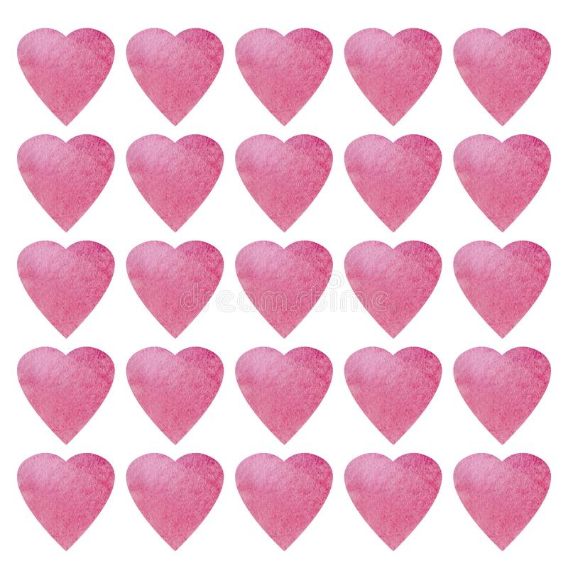 Progettazione di simbolo di forma del cuore Modello variopinto dei cuori per carta, tessuto, carta Fondo senza cuciture di giorno royalty illustrazione gratis
