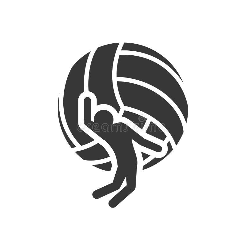 Progettazione di sport di pallavolo della palla illustrazione di stock
