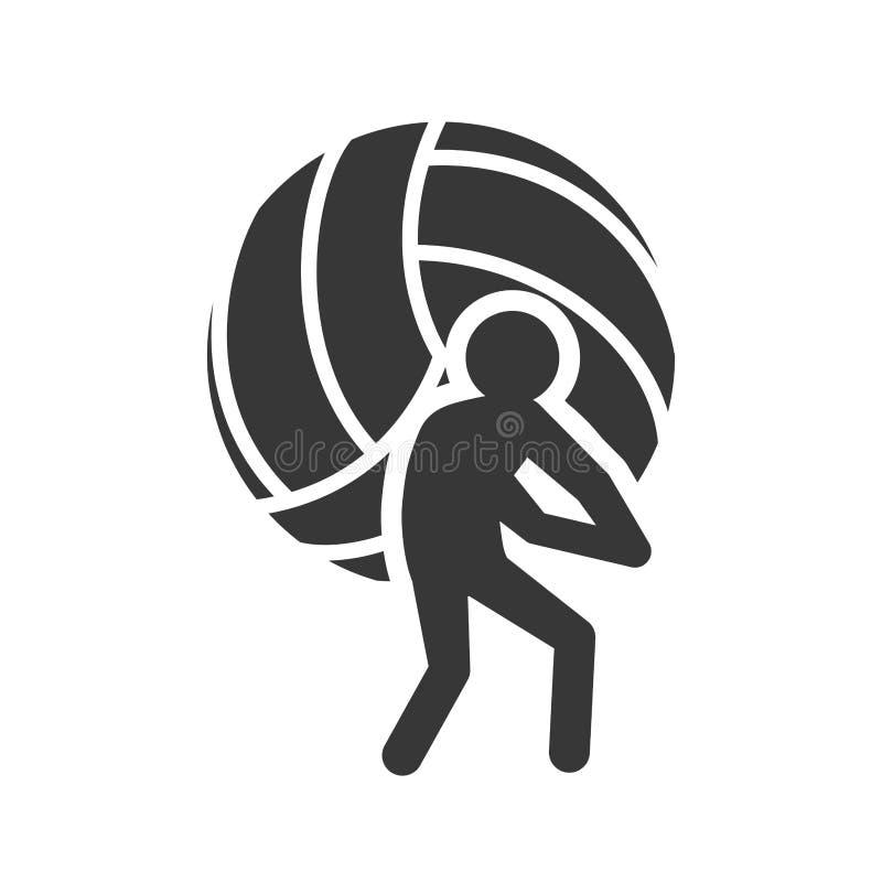 Progettazione di sport di pallavolo della palla illustrazione vettoriale