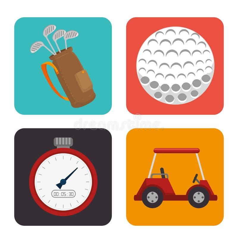 Progettazione di sport di golf royalty illustrazione gratis