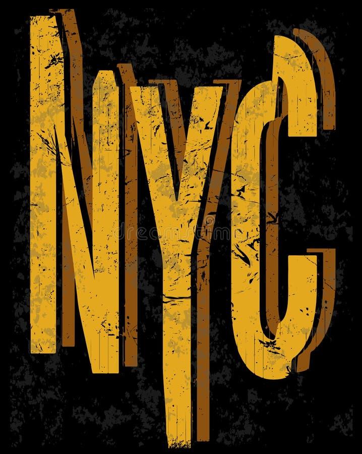Progettazione di tipografia di arte del T di stile di modo di New York fotografia stock libera da diritti
