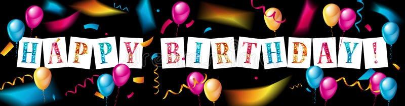 Progettazione di tipografia di celebrazione di buon compleanno illustrazione vettoriale