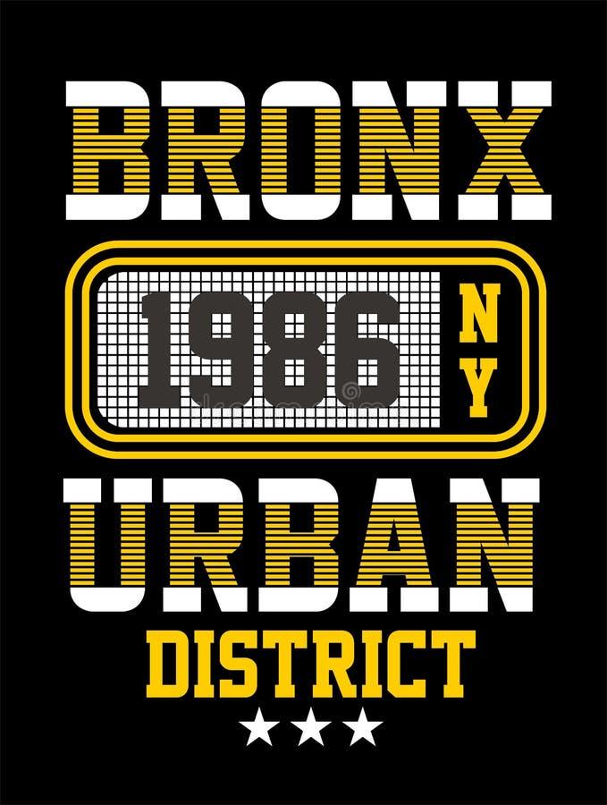 Progettazione di tipografia di New York, immagine di vettore royalty illustrazione gratis