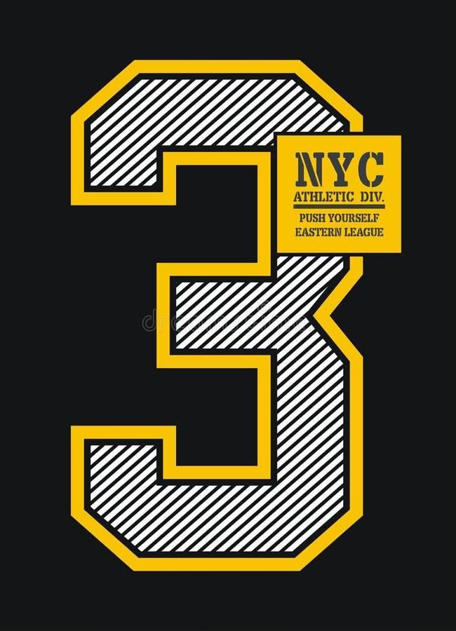 Progettazione di tipografia di New York, immagine di vettore illustrazione di stock