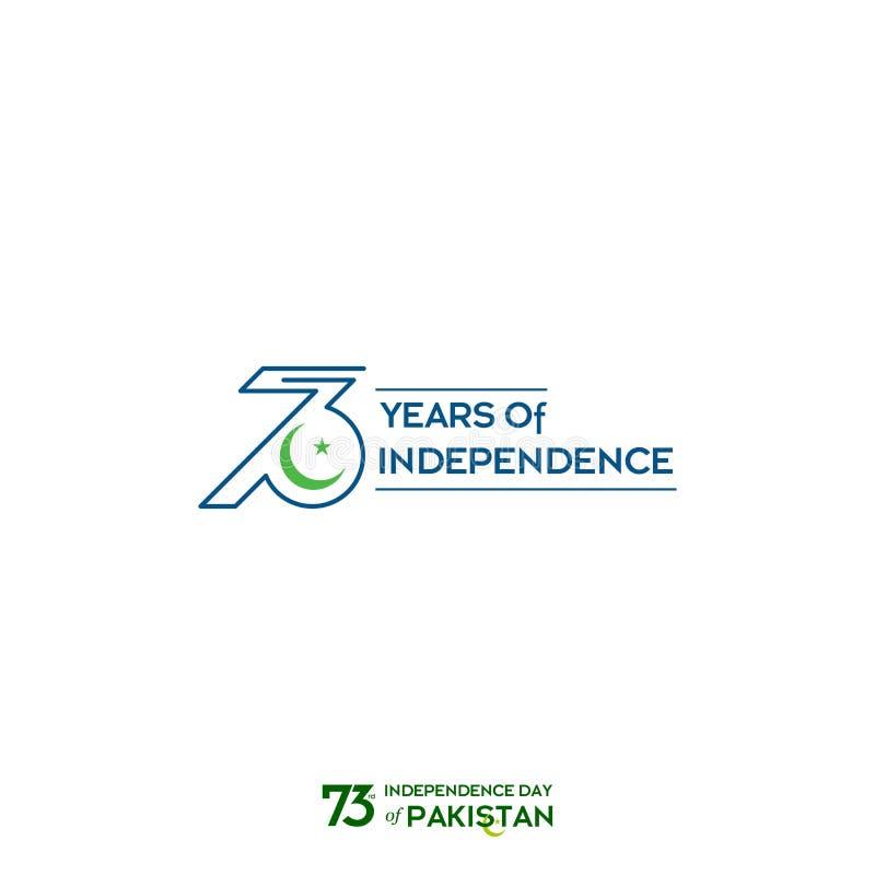 Progettazione di tipografia di festa dell'indipendenza del Pakistan Tipografia creativa della settantatreesima festa dell'indipen fotografia stock