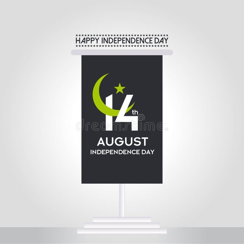 Progettazione di tipografia di festa dell'indipendenza del Pakistan Tipografia creativa della settantatreesima festa dell'indipen immagini stock