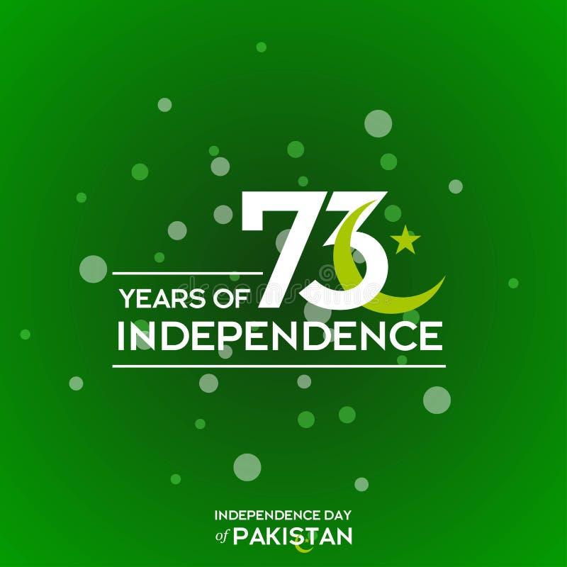 Progettazione di tipografia di festa dell'indipendenza del Pakistan Tipografia creativa della settantatreesima festa dell'indipen fotografie stock libere da diritti