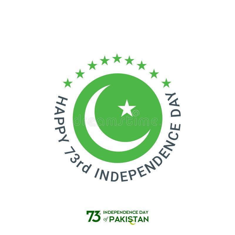 Progettazione di tipografia di festa dell'indipendenza del Pakistan Tipografia creativa della settantatreesima festa dell'indipen fotografie stock