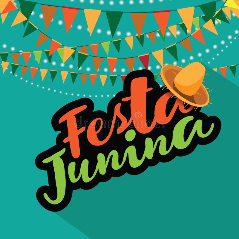 Progettazione di vendita di Festa Junina (partito di giugno) illustrazione di stock