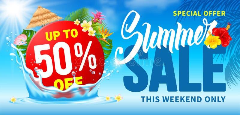Progettazione di vendita di estate fotografie stock