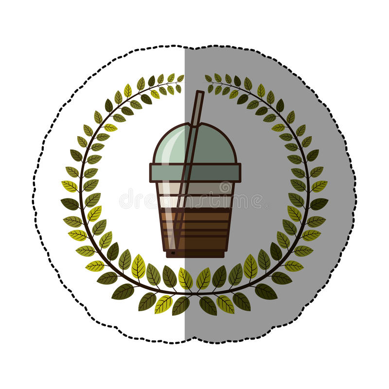 progettazione di vetro dell'icona del frappe dell'emblema royalty illustrazione gratis