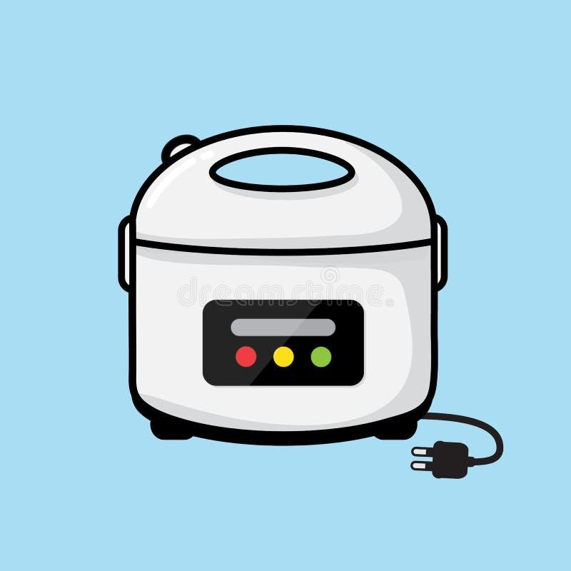 Progettazione di vettore del fornello di riso illustrazione vettoriale