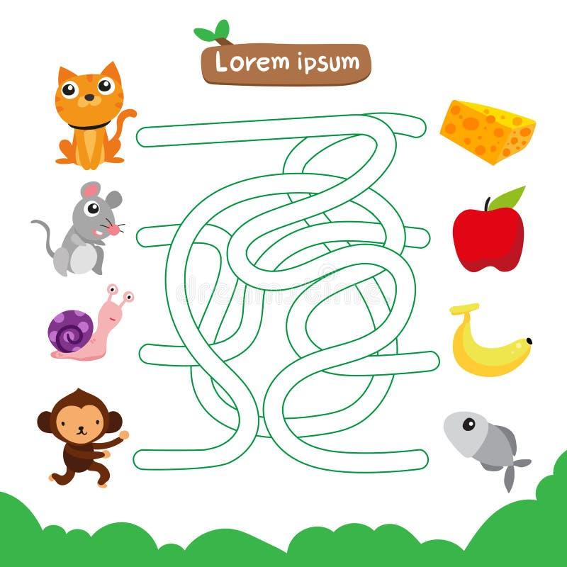 Progettazione di vettore del gioco del labirinto royalty illustrazione gratis