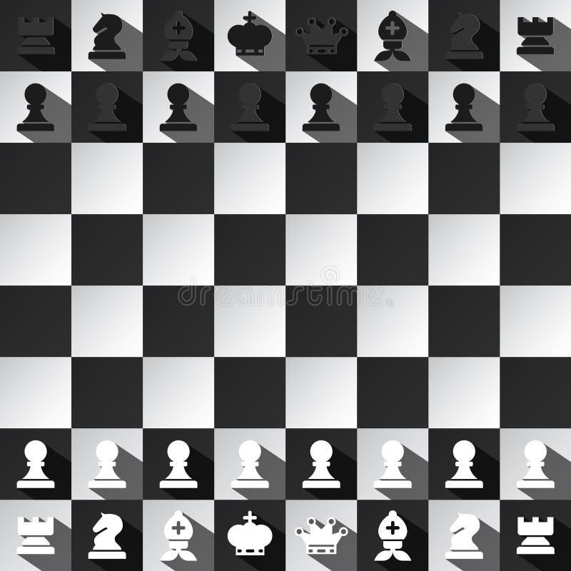Progettazione di vettore del gioco di scacchi illustrazione di stock