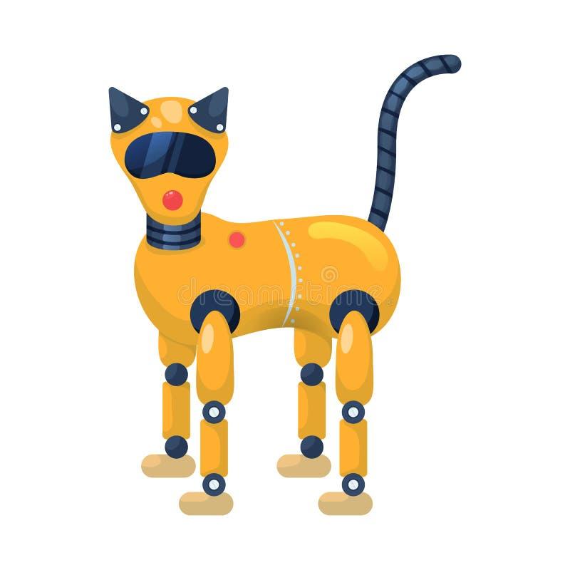 Progettazione di vettore del logo animale e del gatto Raccolta del gatto e del simbolo di riserva di plastica per il web illustrazione vettoriale