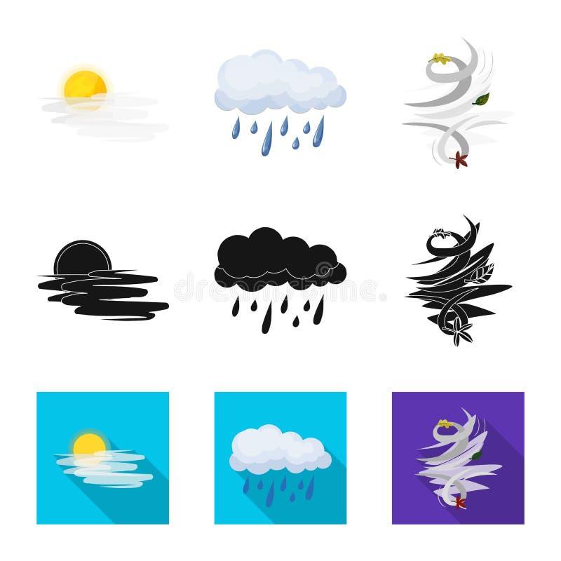 Progettazione di vettore del logo di clima e del tempo Raccolta dell'illustrazione di riserva di vettore della nuvola e del tempo illustrazione vettoriale
