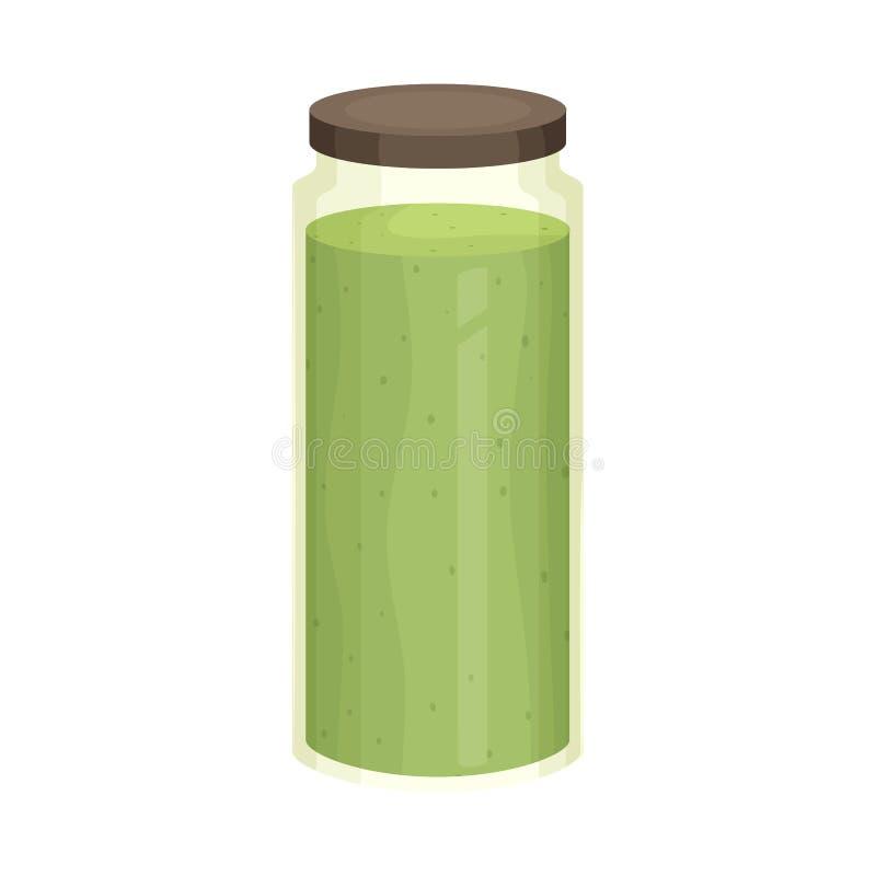 Progettazione di vettore del logo dell'alga e del frullato Raccolta dell'icona di vettore dei superfoods e del frullato per le az royalty illustrazione gratis