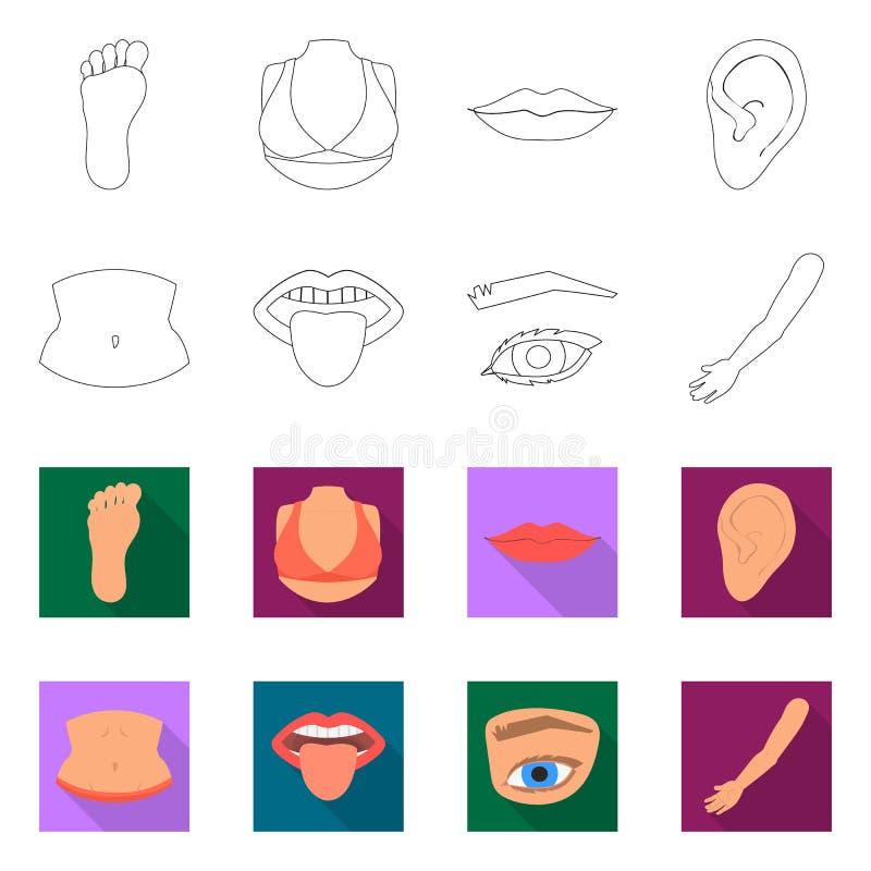Progettazione di vettore del logo della parte e del corpo Raccolta dell'illustrazione di riserva di vettore di anatomia e del cor royalty illustrazione gratis