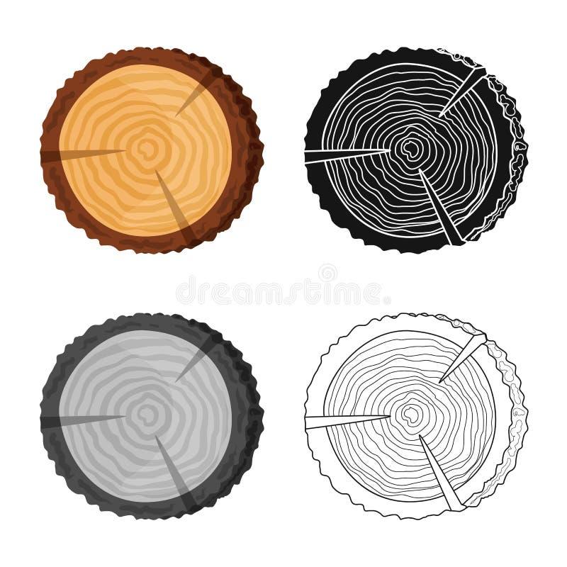 Progettazione di vettore del logo del legname e della piattaforma Metta della piattaforma e del simbolo di riserva di struttura p royalty illustrazione gratis