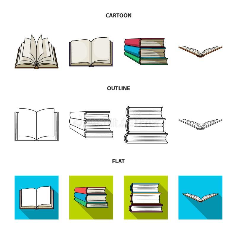 Progettazione di vettore del logo del manuale e delle biblioteche Metta dell'icona di vettore della scuola e delle biblioteche pe illustrazione vettoriale