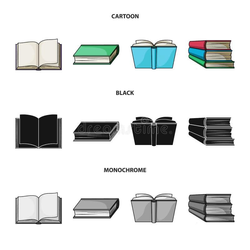 Progettazione di vettore del logo del manuale e delle biblioteche Raccolta dell'icona di vettore della scuola e delle biblioteche illustrazione vettoriale