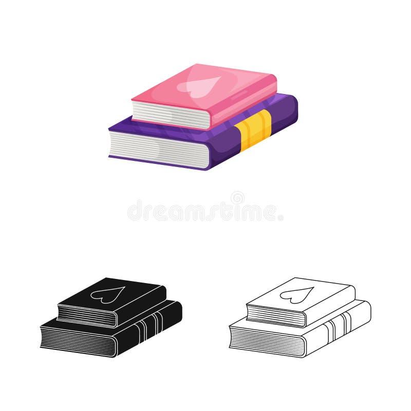 Progettazione di vettore del manuale e del logo di apprendimento Raccolta del manuale e del simbolo di riserva di conoscenza per  illustrazione di stock