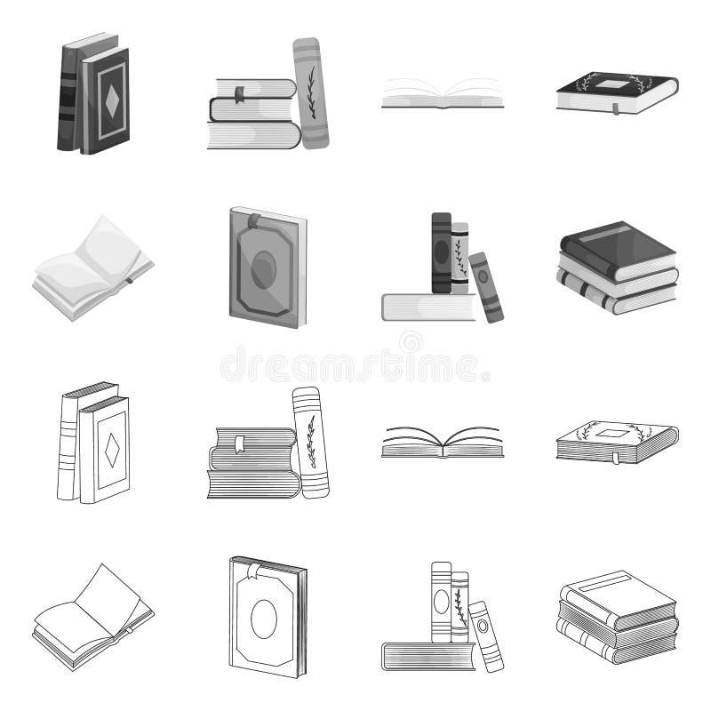 Progettazione di vettore del segno della copertura e di addestramento Metta di addestramento e dell'icona di vettore della librer illustrazione di stock