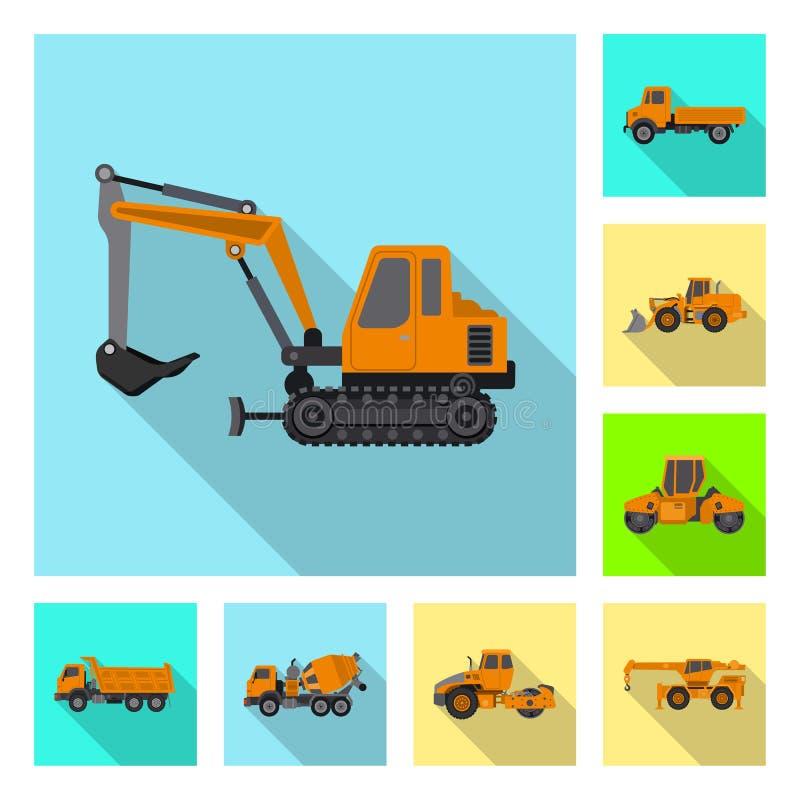 Progettazione di vettore del segno della costruzione e di configurazione Insieme di configurazione e dell'illustrazione di riserv royalty illustrazione gratis