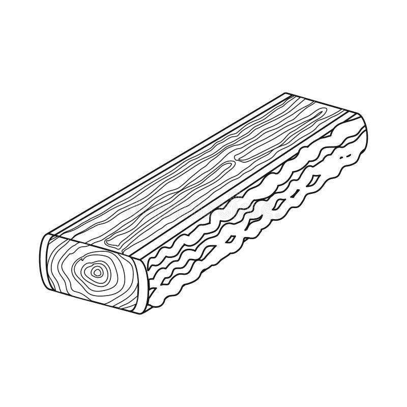 Progettazione di vettore del segno della piattaforma e del legname Metta del simbolo di riserva del legname e del legname per il  illustrazione vettoriale