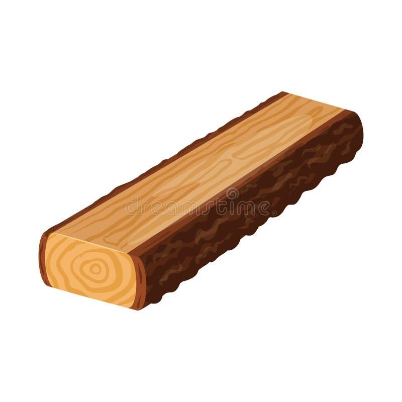 Progettazione di vettore del segno della piattaforma e del legname Raccolta dell'icona di vettore del legname e del legname per l illustrazione vettoriale
