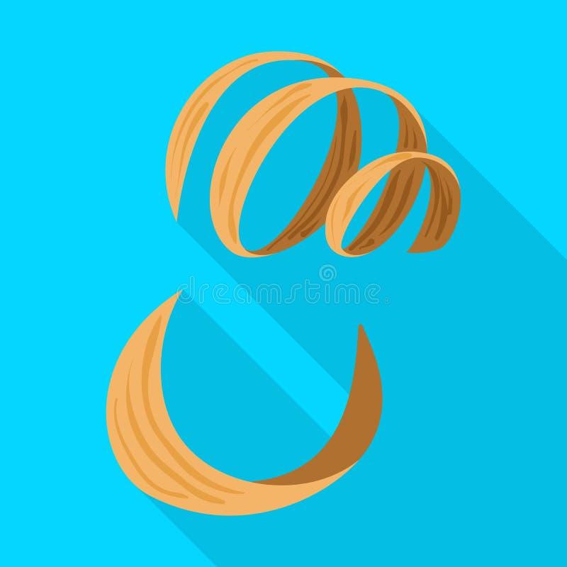 Progettazione di vettore del segno della segatura e del legname Raccolta dell'icona di vettore del taglio e del legname per le az illustrazione di stock