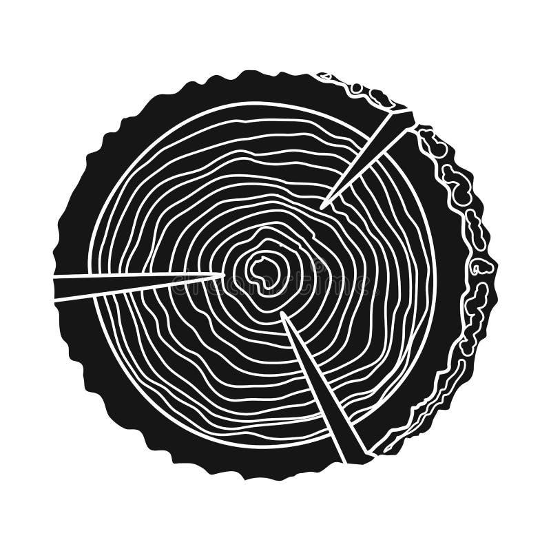 Progettazione di vettore del segno del legname e della piattaforma Raccolta della piattaforma e dell'illustrazione di riserva di  royalty illustrazione gratis
