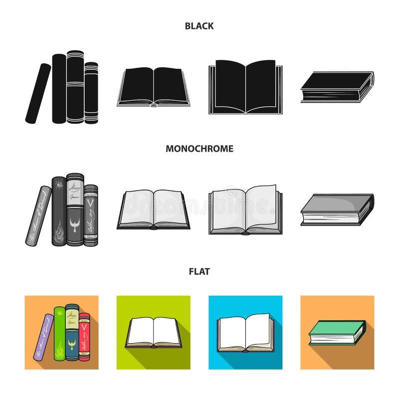 Progettazione di vettore del segno del manuale e delle biblioteche Metta dell'icona di vettore della scuola e delle biblioteche p royalty illustrazione gratis