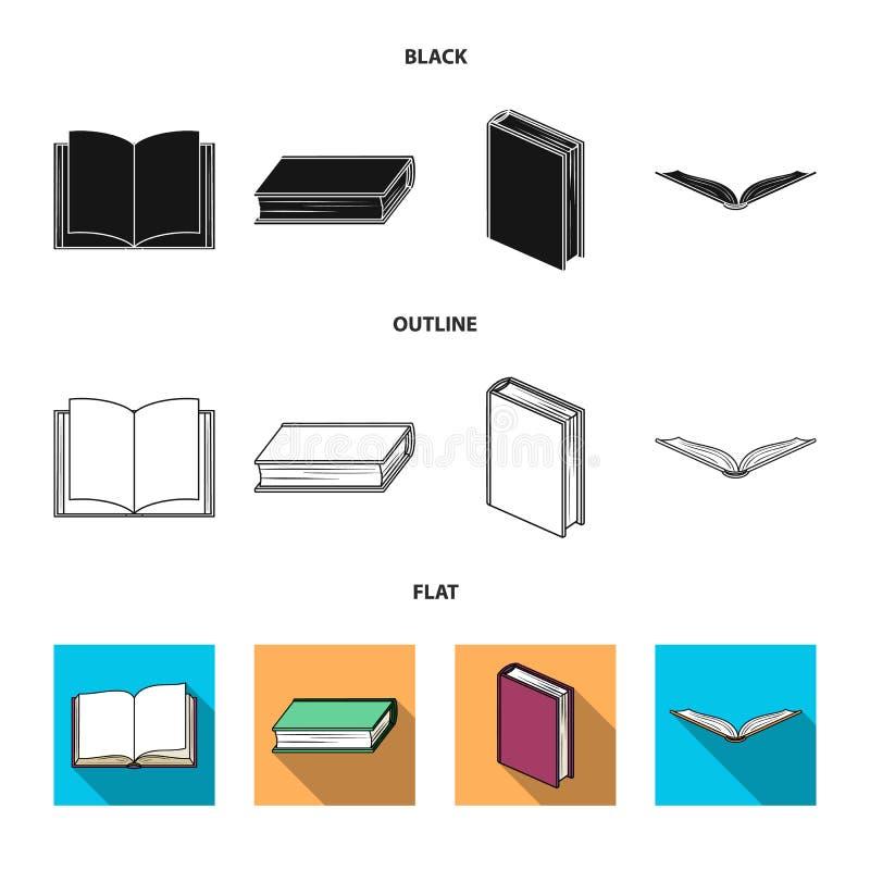 Progettazione di vettore del segno del manuale e delle biblioteche Metta dell'icona di vettore della scuola e delle biblioteche p illustrazione di stock