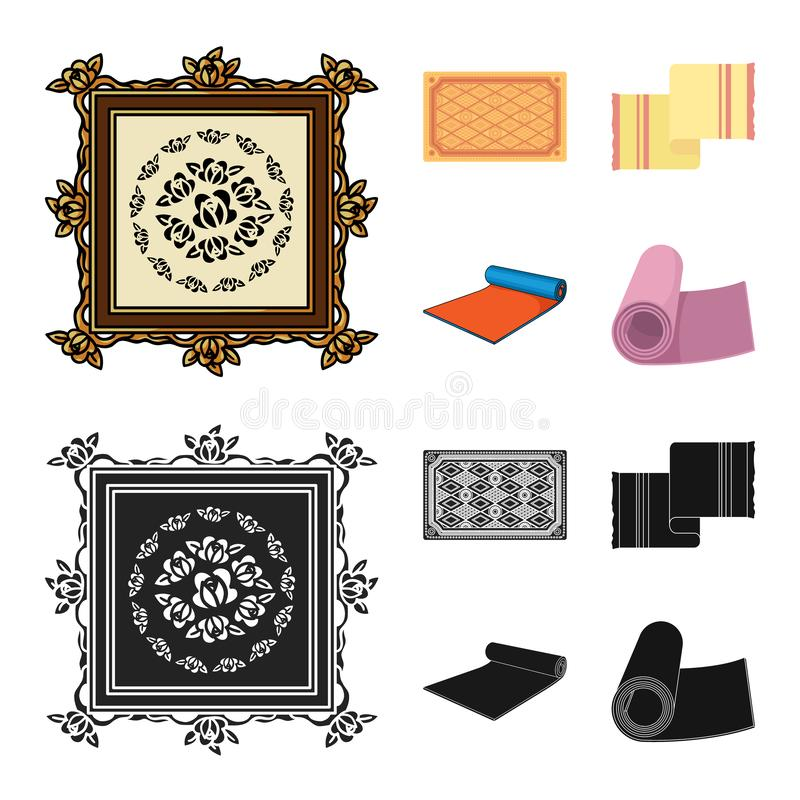 Progettazione di vettore del segno del persiano e del tappeto Raccolta dell'illustrazione di vettore delle azione del confine e d royalty illustrazione gratis