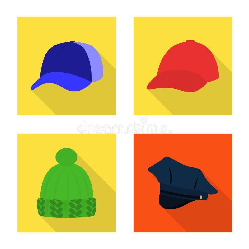 Progettazione di vettore del segno di professione e di modo Raccolta di modo ed icona di vettore del cappuccio per le azione royalty illustrazione gratis