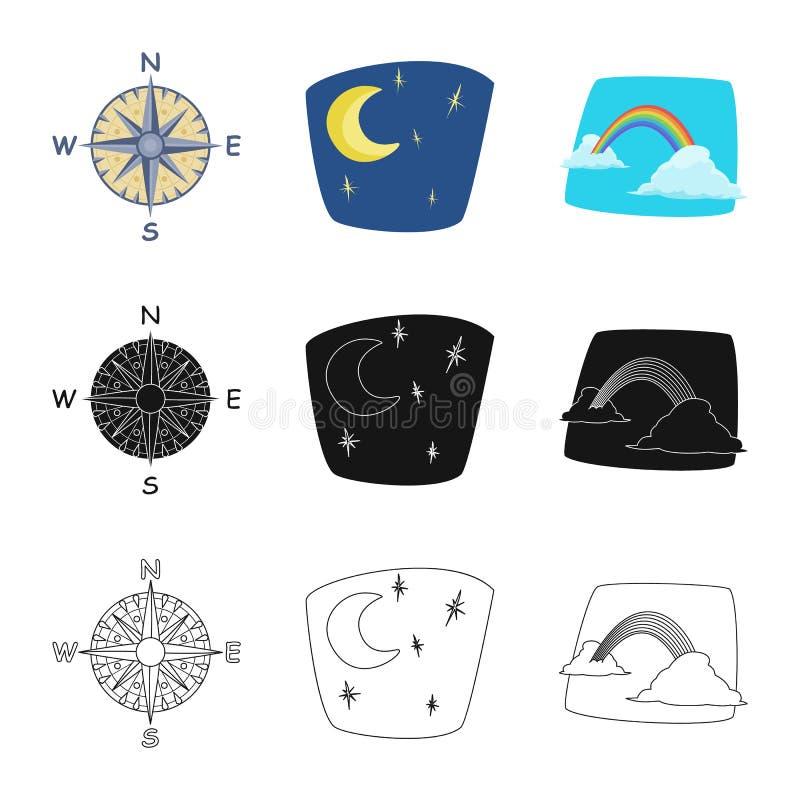 Progettazione di vettore del simbolo di clima e del tempo Raccolta dell'illustrazione di riserva di vettore della nuvola e del te royalty illustrazione gratis