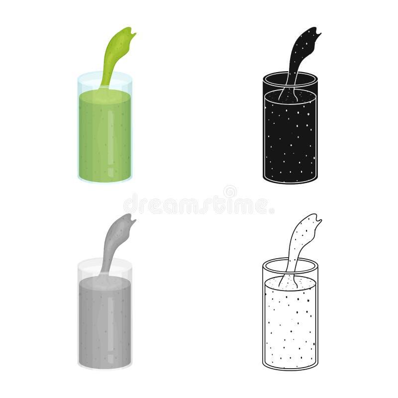 Progettazione di vettore del simbolo dell'alga e del frullato Metta del frullato e dell'icona verde di vettore per le azione royalty illustrazione gratis