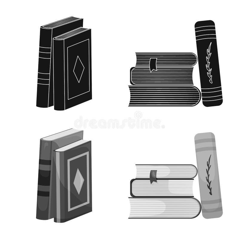 Progettazione di vettore del simbolo della copertura e di addestramento Metta di addestramento e dell'icona di vettore della libr illustrazione di stock