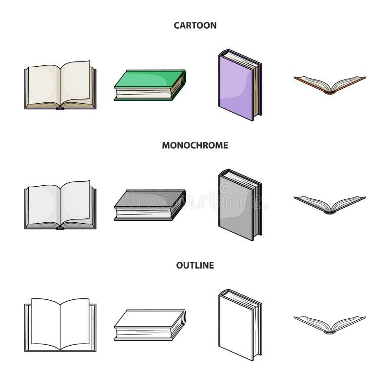 Progettazione di vettore del simbolo del manuale e delle biblioteche Metta dell'illustrazione di riserva di vettore della scuola  illustrazione vettoriale