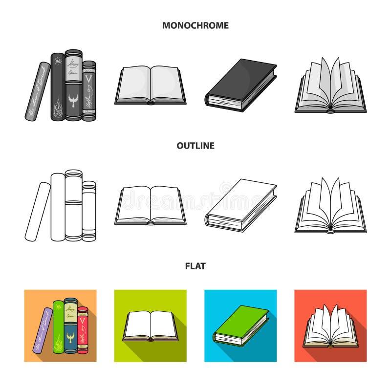 Progettazione di vettore del simbolo del manuale e delle biblioteche Metta del simbolo di riserva della scuola e delle bibliotech royalty illustrazione gratis