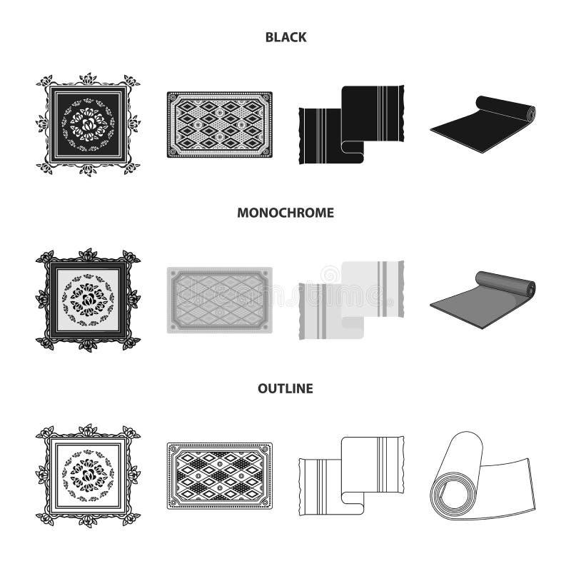 Progettazione di vettore del simbolo del persiano e del tappeto Raccolta dell'illustrazione di vettore delle azione del confine e illustrazione vettoriale