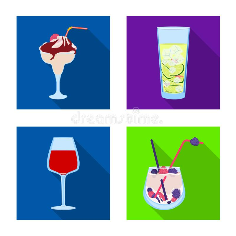 Progettazione di vettore del simbolo del ristorante e del liquore Metta dell'illustrazione di vettore delle azione dell'ingredien royalty illustrazione gratis