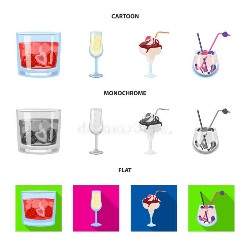 Progettazione di vettore del simbolo del ristorante e del liquore Raccolta dell'illustrazione di vettore delle azione dell'ingred royalty illustrazione gratis