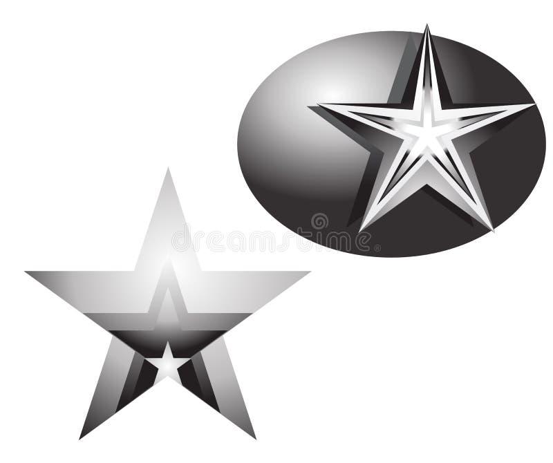 Download Progettazione Di Vettore Dell'elemento Della Stella Di Una Stella Del Metallo Illustrazione Vettoriale - Illustrazione di isolato, geometrico: 55363126