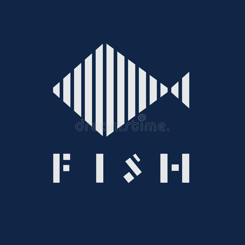 Progettazione di vettore dell'estratto di Logo Fish immagine stock libera da diritti