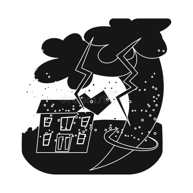 Progettazione di vettore dell'icona di arresto e di calamità Metta del simbolo di riserva di disastro e di calamità per il web royalty illustrazione gratis